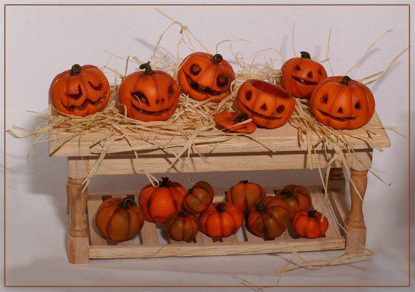 миниатюра, хэллоуин, мастер-класс по лепке