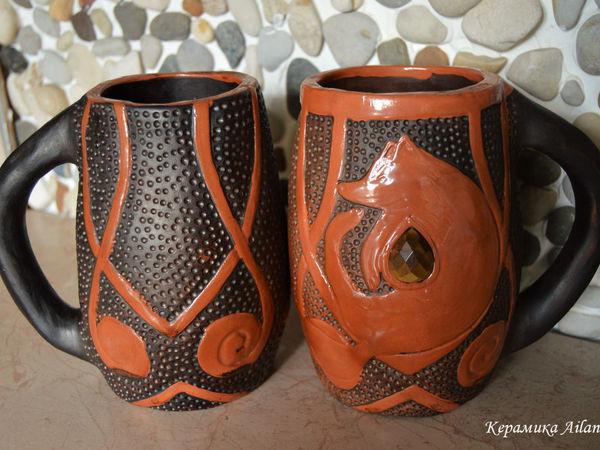 Кружка Отдыхающая Лиса, для большого чаепития | Ярмарка Мастеров - ручная работа, handmade