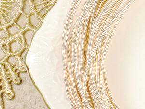 Розовое золото снова на витрине! И коллекция мягкой канители во втором магазине. Ярмарка Мастеров - ручная работа, handmade.