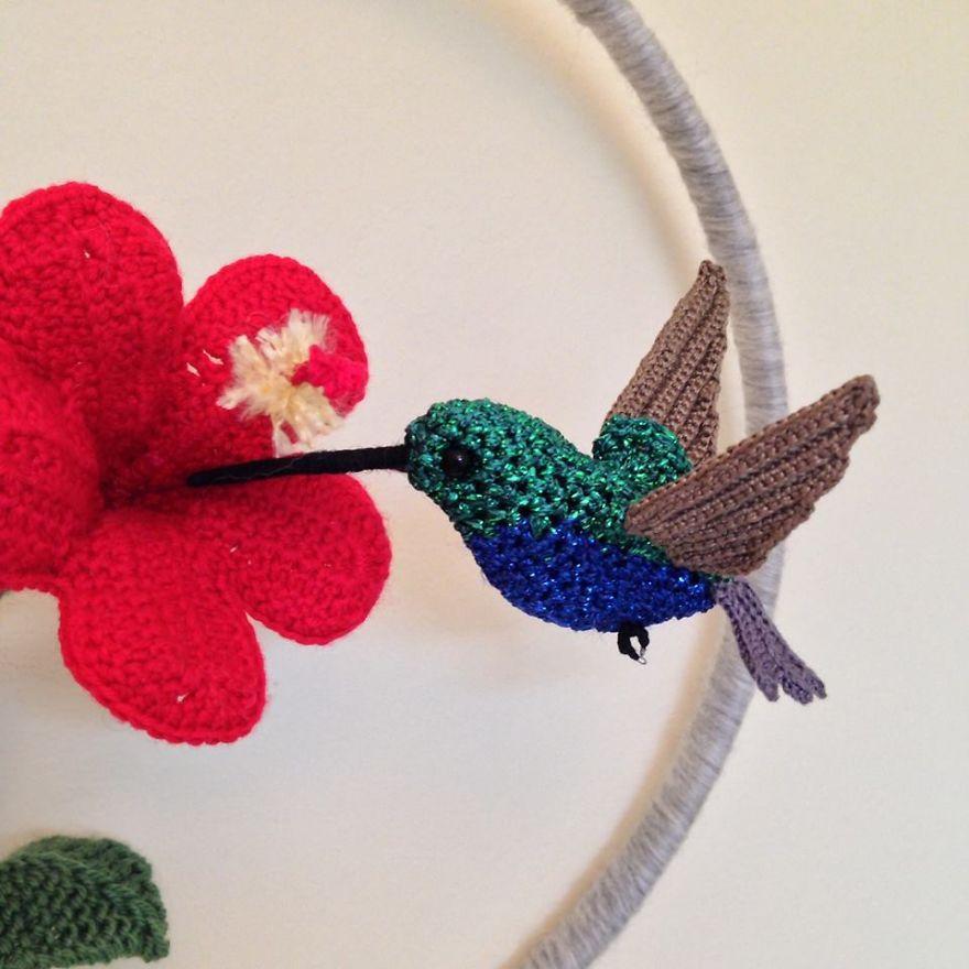 Вот-вот взлетят: реалистичные вязаные птицы Jose Heroys, фото № 27