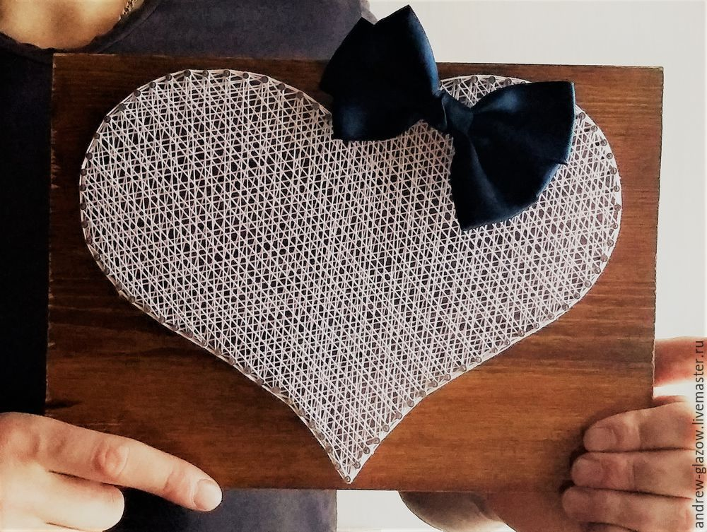 How to Make a String Art Heart, фото № 13