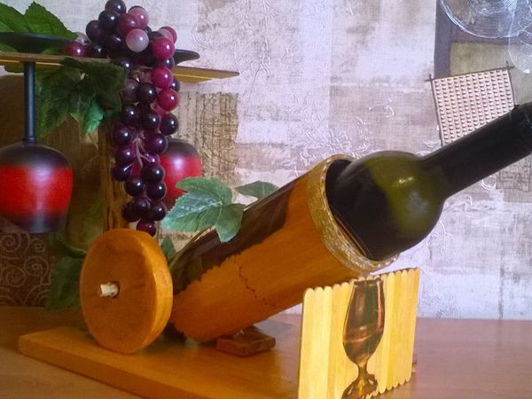 Как смастерить подставку под бутылку вина | Ярмарка Мастеров - ручная работа, handmade
