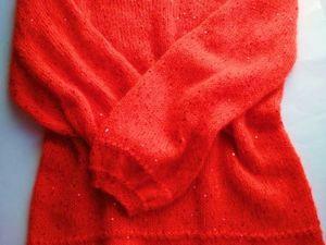 Аукцион с Нуля на Новинку!!!!рыжая,яркая Туника с Пайетками!!!!. Ярмарка Мастеров - ручная работа, handmade.