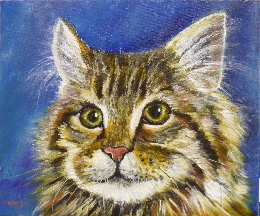 хазанова алена, портрет маслом, картина маслом, маслом на холсте, картина в подарок, домашний любимец, питомпец, собака, кошка, кот, подарок, картина по фото