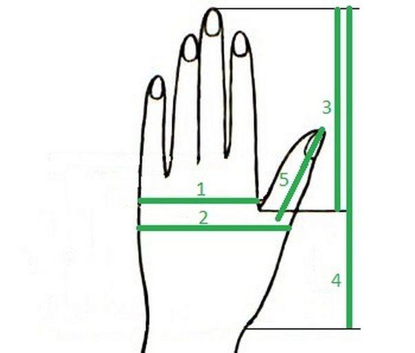 размер варежек, варежки, варежка, варежки вязаные, определение размера, как снять мерки, мерки для варежек, вязаные варежки