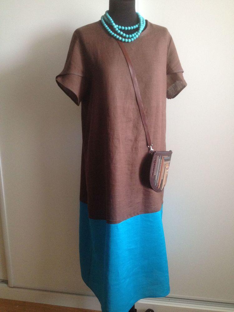 льняное платье, шоколад