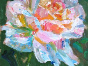 Картина маслом Роза | Ярмарка Мастеров - ручная работа, handmade
