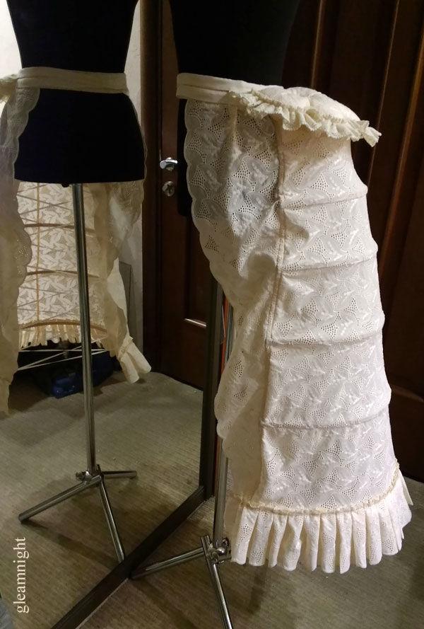 турнюрное платье, историческое платье