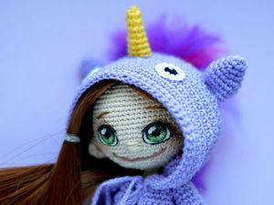 Девочка-единорожка (скоро МК)+мк по игрушке. Ярмарка Мастеров - ручная работа, handmade.