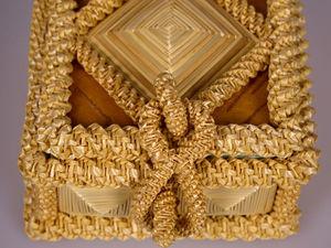 Шкатулка из соломки. Ярмарка Мастеров - ручная работа, handmade.