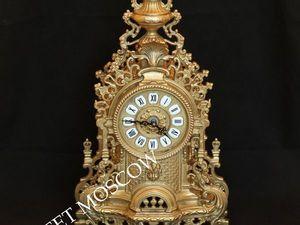 Часы каминные настольные бронза латунь Германия 5. Ярмарка Мастеров - ручная работа, handmade.