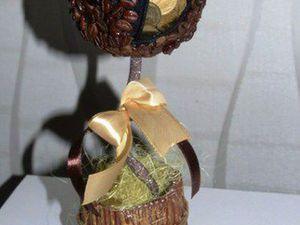 Создаем топиарий из кофе с молнией и монетами «Кошелечек». Ярмарка Мастеров - ручная работа, handmade.