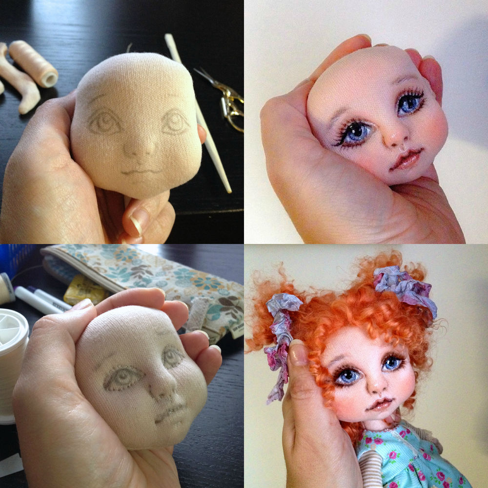 Сшить лицо для куклы из 352