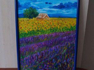 Пишем акрилом картину «Прованс»: видеоурок | Ярмарка Мастеров - ручная работа, handmade