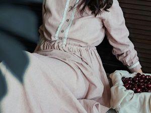 """Длинное платье """"Настроение"""". Ярмарка Мастеров - ручная работа, handmade."""