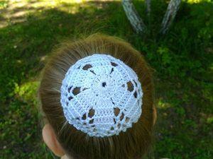 Вяжем крючком летний аксессуар для волос. Ярмарка Мастеров - ручная работа, handmade.