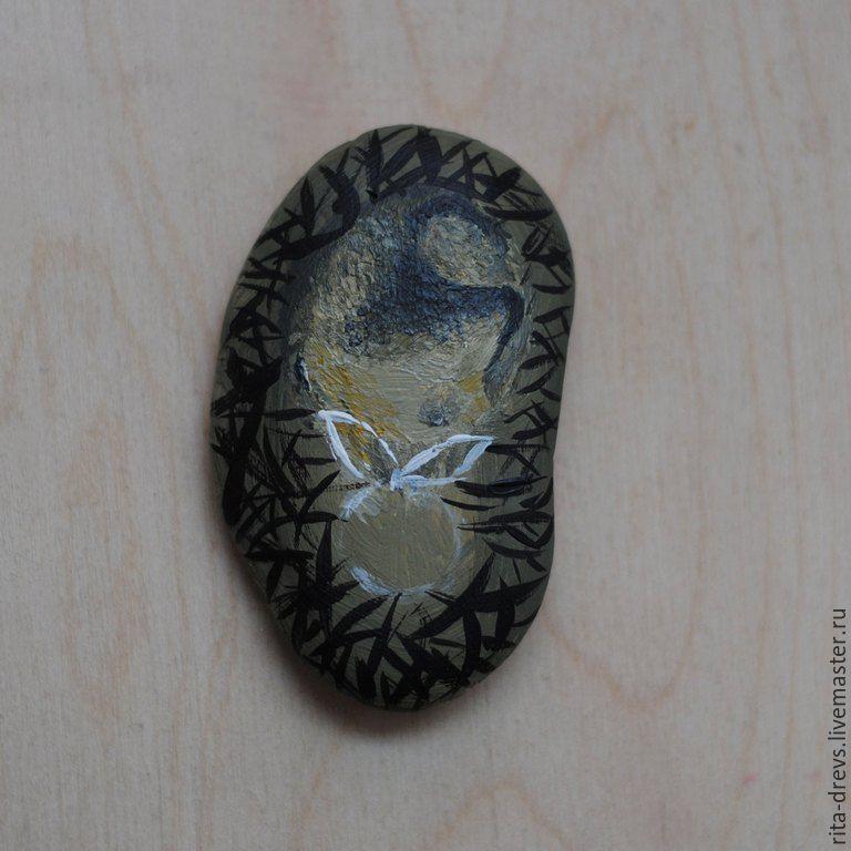 Как сделать из обычного камня обаятельного ёжика, фото № 6