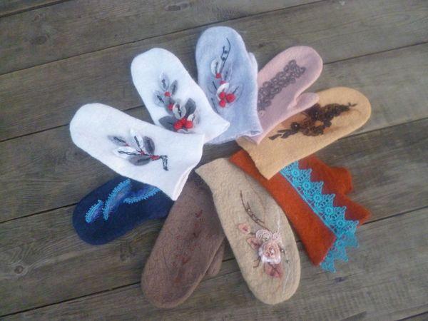 Новые рукавички к  грядущей зиме!)   Ярмарка Мастеров - ручная работа, handmade