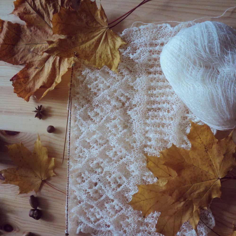 вязание, листья