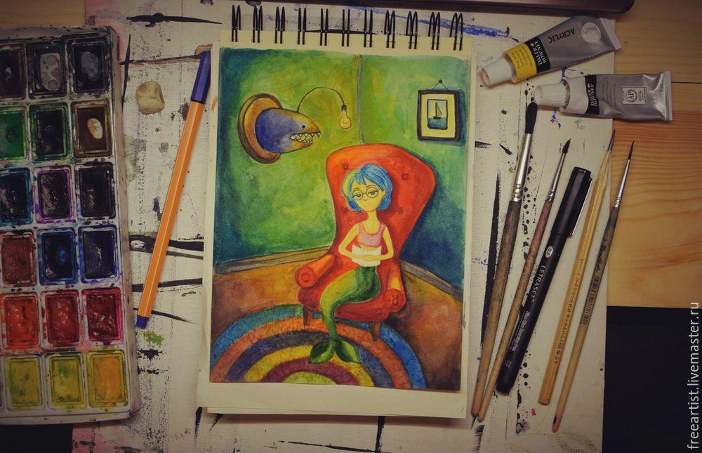акварельная живопись, видео мастер-класс, иллюстрация