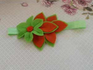 Как просто сделать из фетра симпатичную повязку на голову. Ярмарка Мастеров - ручная работа, handmade.