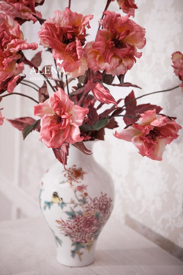 цветы из шелка, школа алены абрамовой, цветы курсы москва