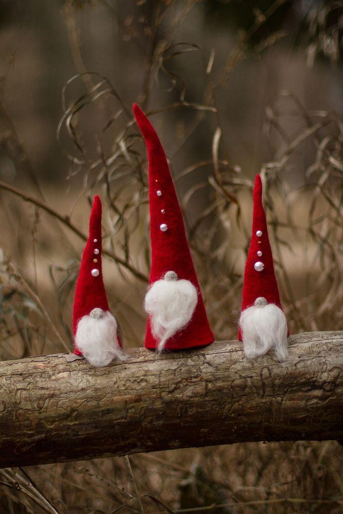 рождественские гномы, игрушка из войлока, мк по валянию