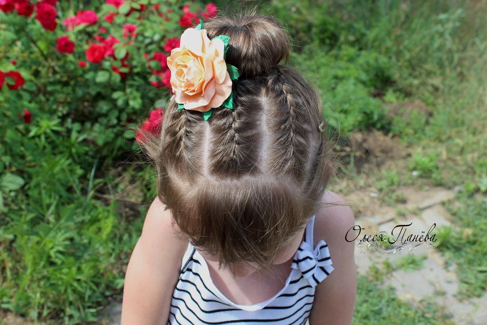 детский браслет, ободок с розами
