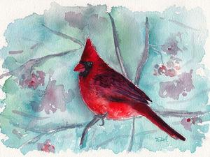 Птицы акварелью. | Ярмарка Мастеров - ручная работа, handmade