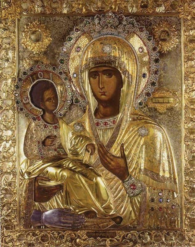 троеручица, божия матерь, православие, христианство, гора афон