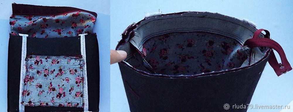 1c538d641ec7 После того как вывернули сумочку, нужно прошить по краю, примерно отступив  7-10 мм, чтобы подклад не топорщился и сумочка выглядела опрятнее.