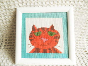 Щедрый аукцион. Кот с нуля. Ручная вышивка крестом. Ярмарка Мастеров - ручная работа, handmade.