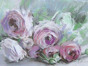 Аукцион и лотерея на картины цветов!   Ярмарка Мастеров - ручная работа, handmade