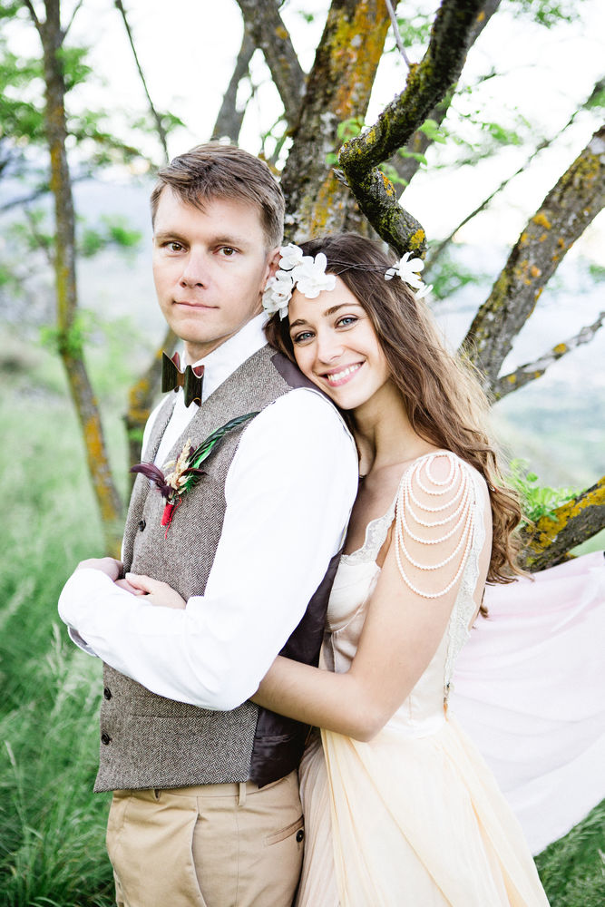 свадебные волосы