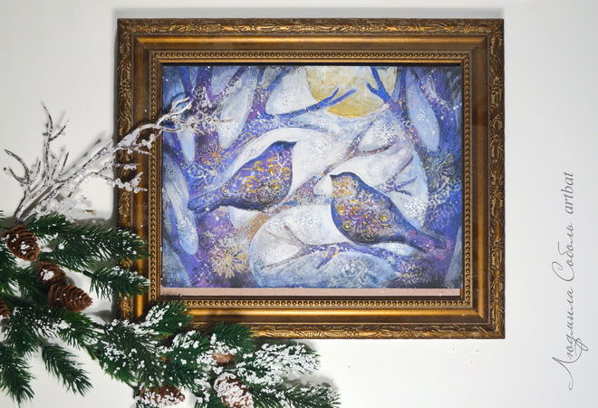 pebeo, новый год, птица