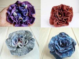 К Дню Учителя -30% на валяные броши-цветы и игольницы!. Ярмарка Мастеров - ручная работа, handmade.