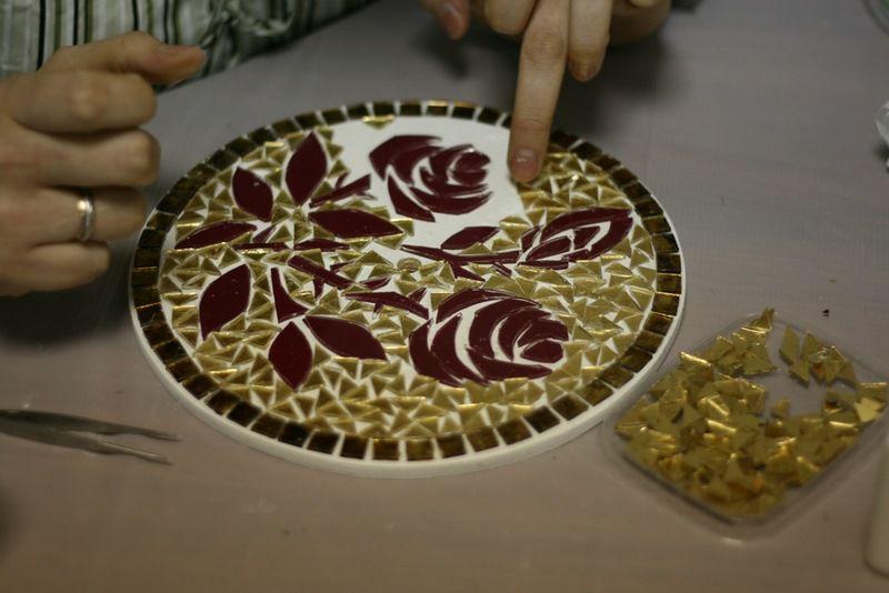 декоративная мозаика, мастер-класс по мозаике