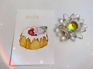 Рисуем акварелью «Ягодный кекс с глазурью». Ярмарка Мастеров - ручная работа, handmade.