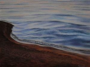 """Новая работа! Картина """"Море. Люблю"""". Ярмарка Мастеров - ручная работа, handmade."""