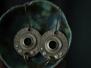 Мастер-класс: серьги из металла без пайки. Ярмарка Мастеров - ручная работа, handmade.