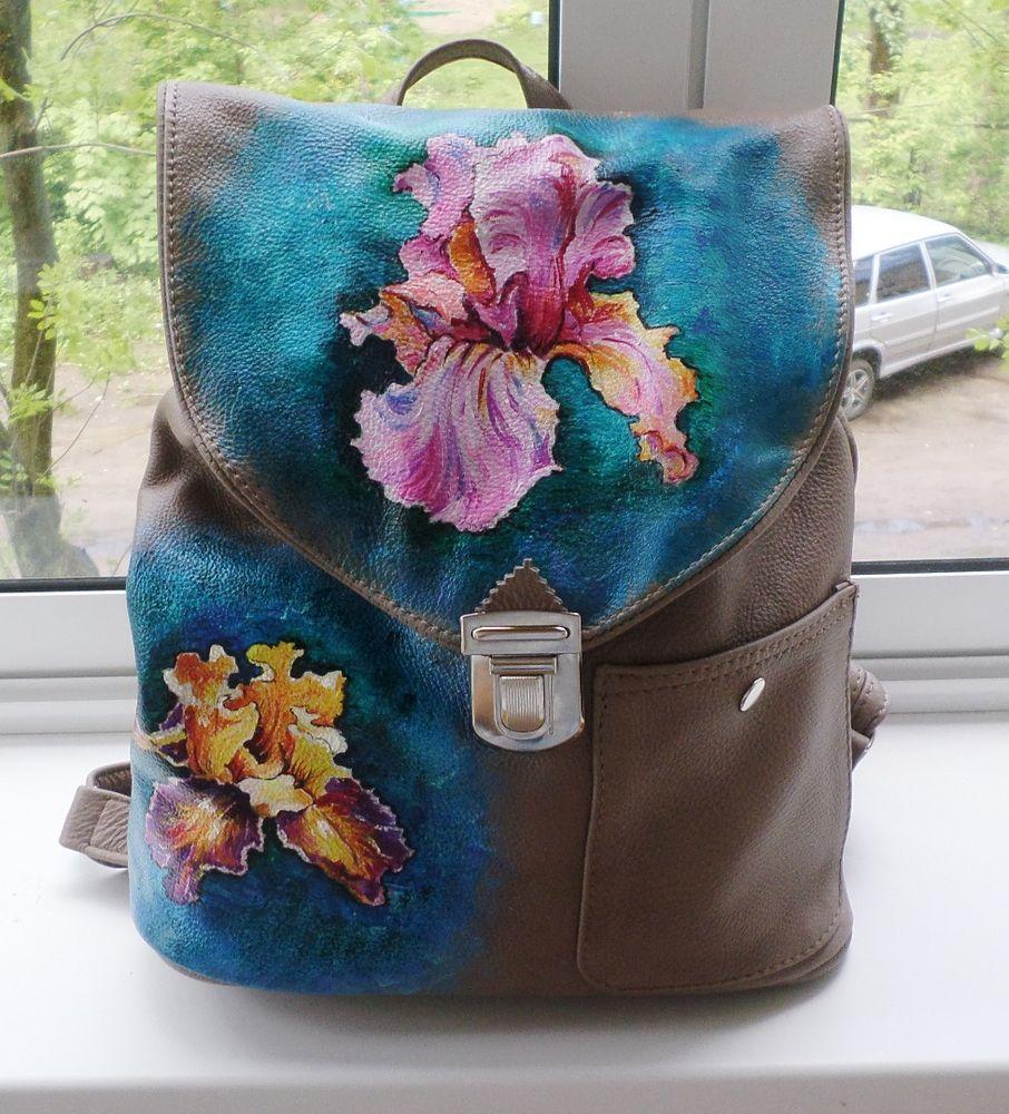 кожаная сумка, авторский рюкзак