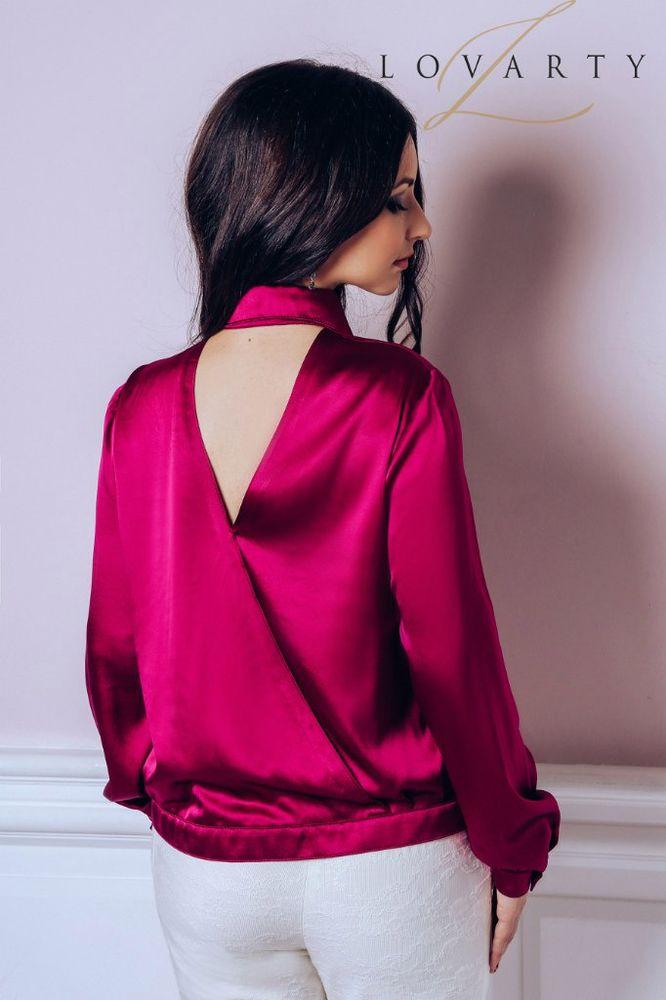 купить блузу, бордовый