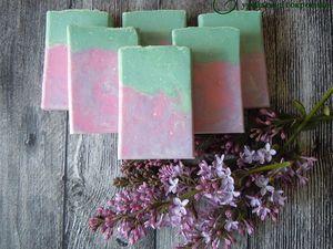 Натуральное мыло с нуля Сирень (розыгрыш и скидка). Ярмарка Мастеров - ручная работа, handmade.