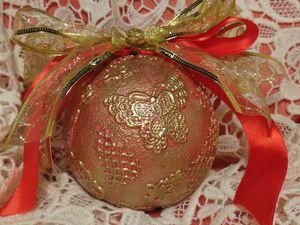 Декорируем ёлочный новогодний шар. Ярмарка Мастеров - ручная работа, handmade.