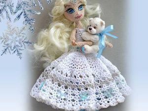 Снегурочка крючком мастер класс (кукла шарнирно-каркасная). Ярмарка Мастеров - ручная работа, handmade.