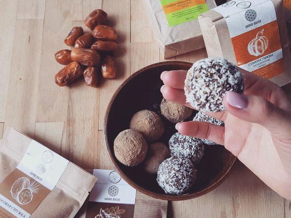 Сыроедческие конфеты с кэробом   Ярмарка Мастеров - ручная работа, handmade