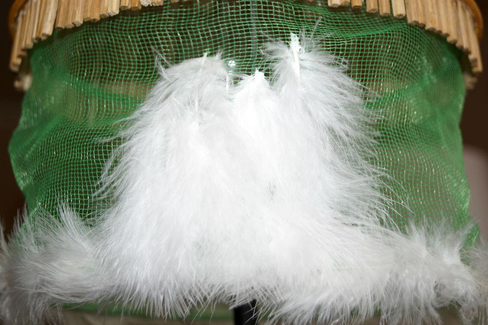 торшер с перьями