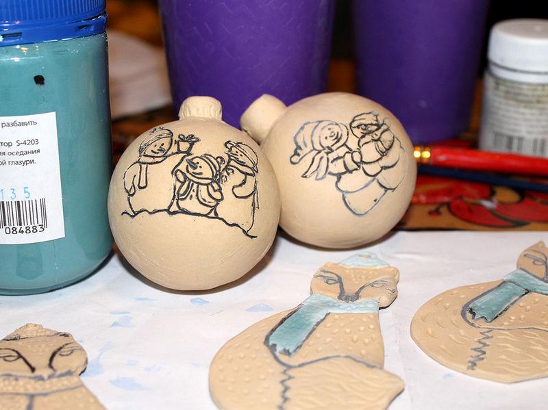 керамика новогодняя, подарки на новый год
