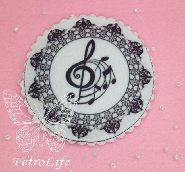 броши из фетра, для женщины, скрипка