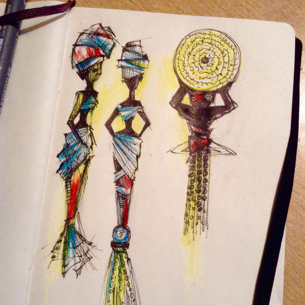 творческий процесс, стеклянные украшения, эскиз, африканский стиль